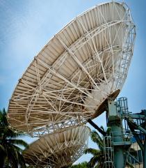 Satellite dish in Aruba