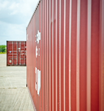 Containers at Aruba harbor