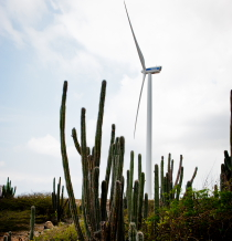 Windmill and green energy in Aruba