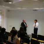 El señor Camilo Acevedo Rojas, quien habló sobre Colombia como uno de los mayores inversionistas extranjeros en Centroamérica