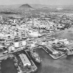 Old picture Oranjestad harbor