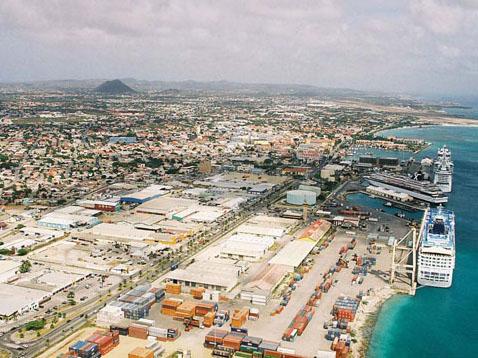 Current View of Oranjestad Port