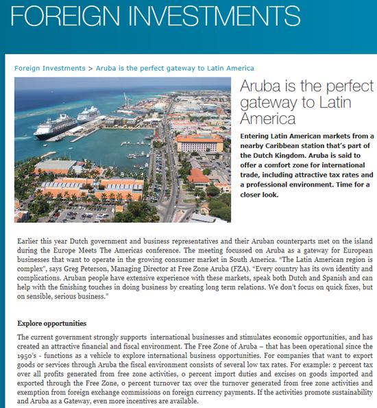 Foreign Investment Publication Aruba