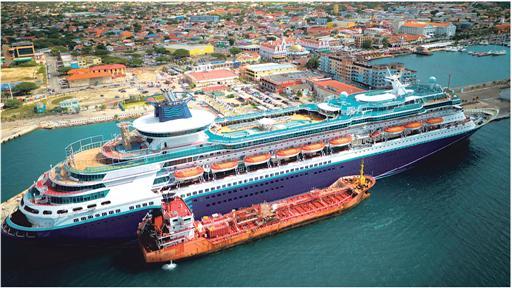 First Bunkering In Oranjestad Harbor Free Zone Aruba - Cruise ships in aruba